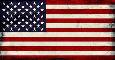 Grunge Vintage USA flag background textured