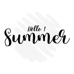 hello summer lettering overlay set. Calligraphy photo graphic design element. Sweet cute inspiration typography.