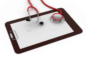 Note pad with stethoscope