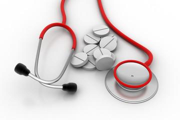 Stethoscope with medicine
