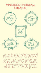 Vintage monogram creator