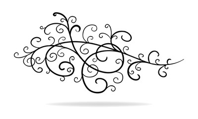 hand drawn vector design element decoration, paragraph or text divider, wedding announcement detail or artsy doodle underline, elegant border sketch