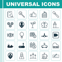 Set Of 25 Universal Editable Icons. Can Be Used For Web, Mobile And App Design. Includes Elements Such As Dinner, Pin Employee, Black Friday And More.