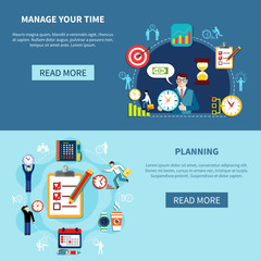 Time Management Banners Set