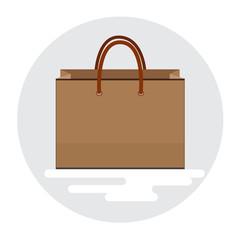Sac course, icône, Illustration flat design - Vecteur