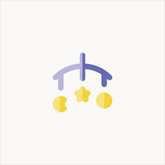 crib icon flat design