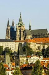Prague, city view, hill Hradschin, Czech Republic