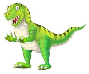 cartoon dinosaur tyrannosaurus illustration for children