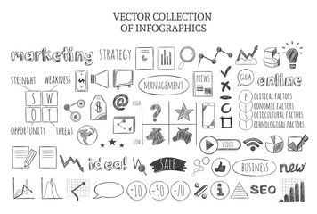 Infographic Marketing Strategy Icons Set