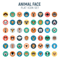 animal flat icon set