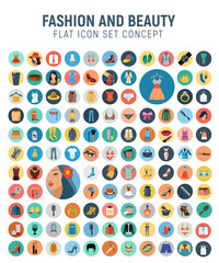 Fashion flat icon set concept