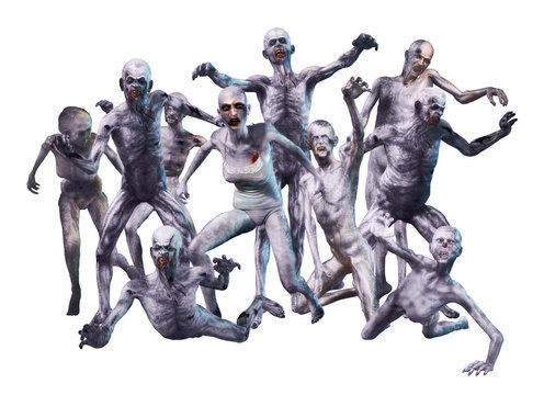 Zombie Crowd Attack