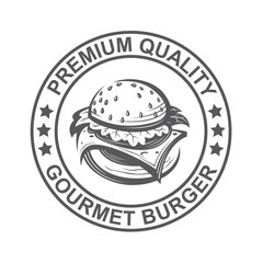 fast food image with seal of burger
