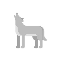 Vector flat style illustration of wolf.