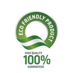 ECO friendly product green ribbon label logo icon