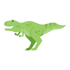 Vector flat style illustration of dinosaur.