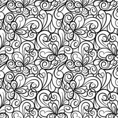 Abstract seamless swirl background pattern in vector.