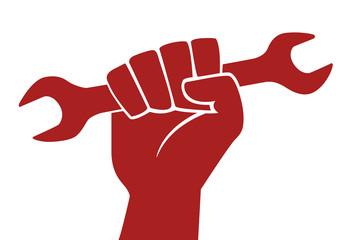 Poing- Clé - Travail - ouvrier - grève - travailleur
