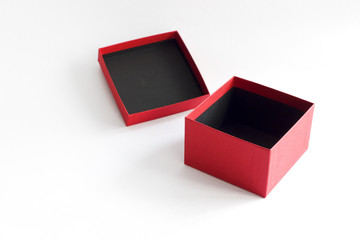 Open red box