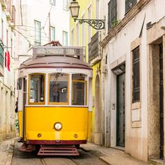 Historische Strassenbahn in Lissabon