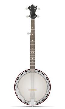 banjo stock vector illustration