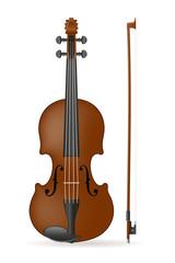 violin stock vector illustration