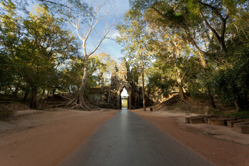 Face Gate entrance to Angkor Thom