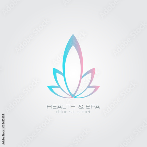 Lotus flower logo abstract beauty spa salon cosmetics for Abstract beauty salon