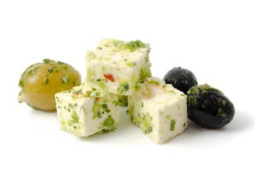 Feta und Oliven