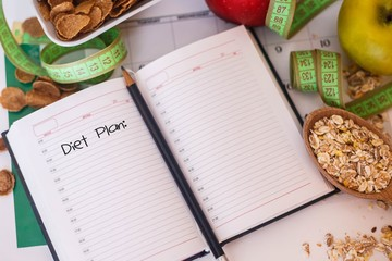 Diary with diet plan