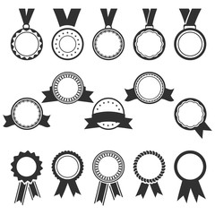 set of black badges