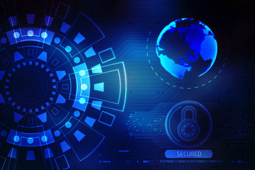 Background conceptual image of digital 3d icons, Digital Abstract technology background, 3d rendering