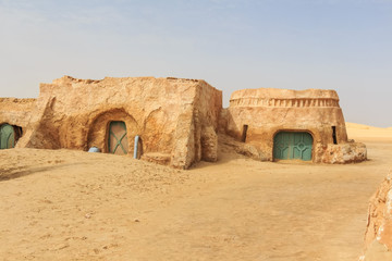 Tatooine decoration in Sahara desert
