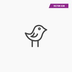 Bird icon illustration isolated vector sign symbol
