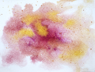 Abstract Hand painted Watercolor Colorful wet background on paper.