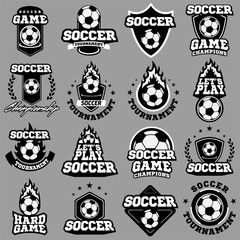 Soccer or football logo, emblem, badge