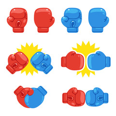 Boxing gloves set