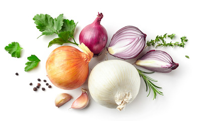 various onions and spices Wall mural