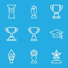 Set of 9 ceremony outline icons