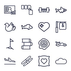 Set of 16 shape outline icons