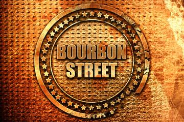 bourbon street, 3D rendering, metal text
