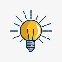 bulb light handmade drawn vector illustration design