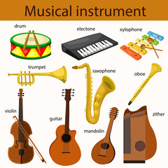 Illustrator of musical instrument