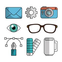 creative ideas set elements vector illustration design