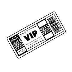 vip ticket entrance icon vector illustration design