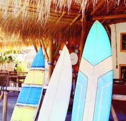 surfboard, vintage effect
