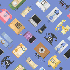 Telephones vector icons sealess pattern isolated