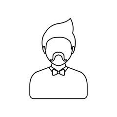Young man profile icon vector illustration graphic design