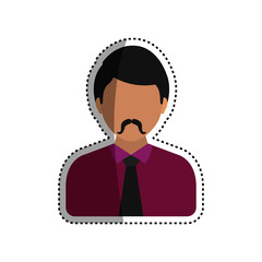 Young man profile icon vector illustration graphic design