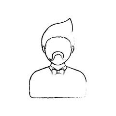 Young man profile icon icon vector illustration graphic design